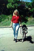 Heel! : Karen and her dog, Sepp demonstrate effective Dog Training