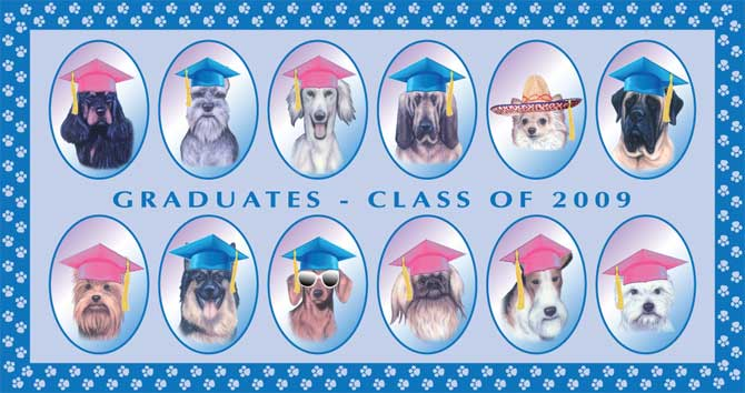 2009 Graduates of San Diego Dog Obedience Training School: ABC School for Dogs in La Mesa